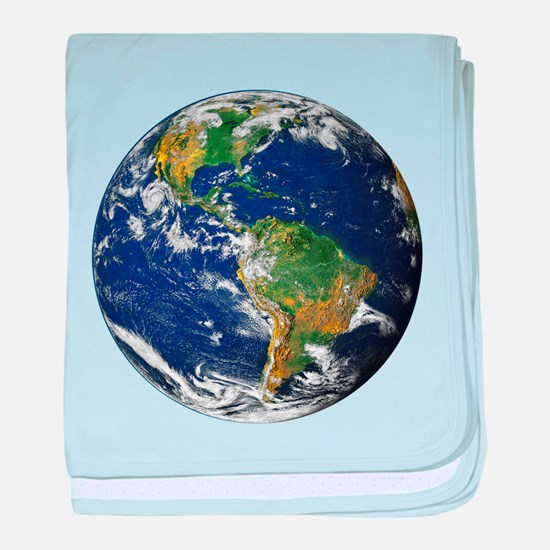 Planet Earth baby blanket