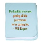Will Rogers Government Quote baby blanket