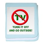 Turn Off The TV baby blanket