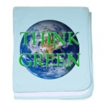 Think Green Double Sided baby blanket
