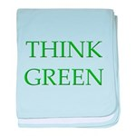 Think Green baby blanket