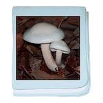 White Mushrooms baby blanket