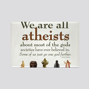We're All Atheists Rectangle Magnet