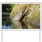 Pond Turtle Basking Yard Sign