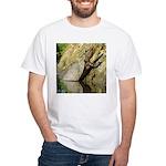 Pond Turtle Basking White T-Shirt