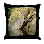 Pond Turtle Basking Throw Pillow