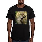 Pond Turtle Basking Men's Fitted T-Shirt (dark)