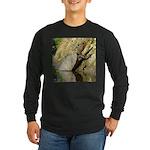 Pond Turtle Basking Long Sleeve Dark T-Shirt
