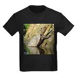 Pond Turtle Basking Kids Dark T-Shirt