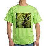 Pond Turtle Basking Green T-Shirt