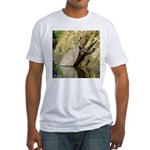 Pond Turtle Basking Fitted T-Shirt