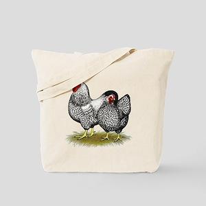 Wyandotte Silver Pair Tote Bag