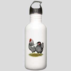 Wyandotte Silver Pair Stainless Water Bottle 1.0L