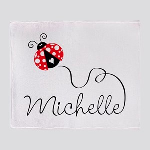 Ladybug Michelle Throw Blanket