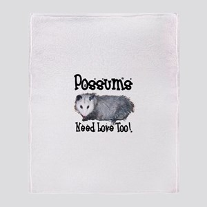 Possums Need Love Throw Blanket