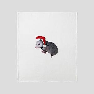 Santa Possum Throw Blanket