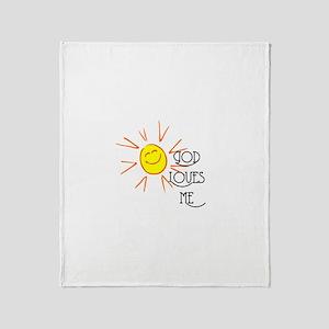 God Loves Me Throw Blanket