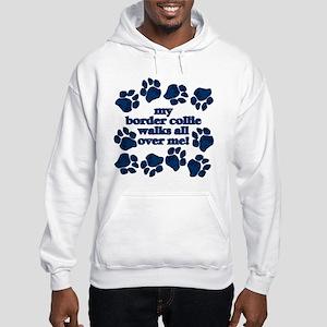 Border Collie WALKS Hooded Sweatshirt