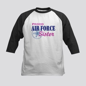 Proud Air Force Sister Kids Baseball Jersey