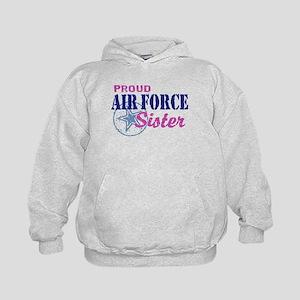Proud Air Force Sister Kids Hoodie