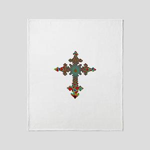 Jewel Cross Throw Blanket