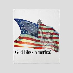 God Bless America! Throw Blanket