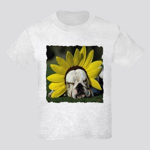 BULLDOG SUNFLOWER Kids Light T-Shirt
