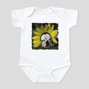 BULLDOG SUNFLOWER Infant Bodysuit