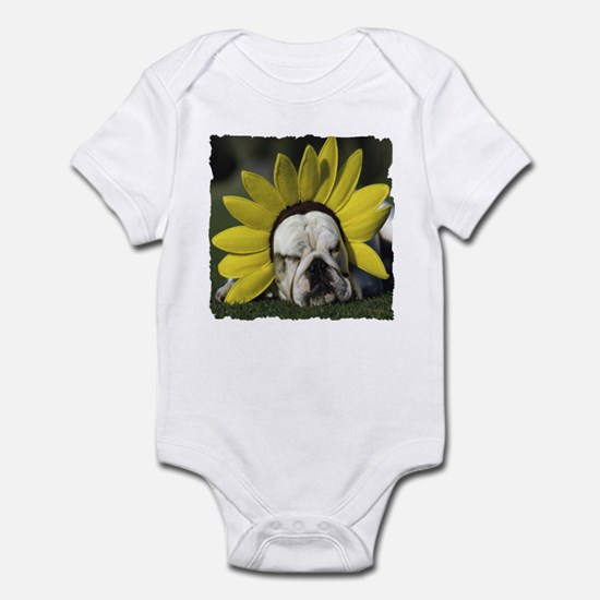 BULLDOG SUNFLOWER Infant Bodysuit