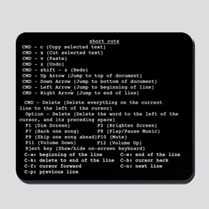 Apple keybored shortcuts - Mousepad