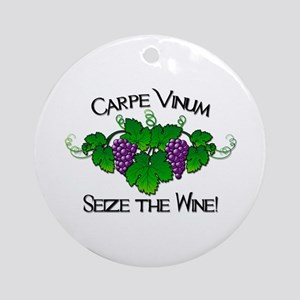 Carpe Vinum Ornament (Round)