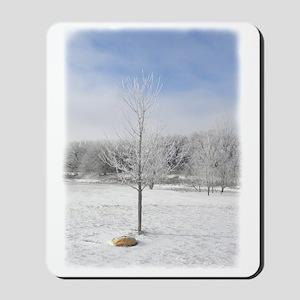 Icy Winter Tree Mousepad