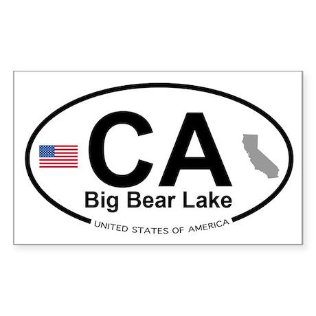 Big Bear Lake Sticker (Rectangle)