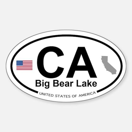 Big Bear Lake Sticker (Oval)