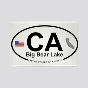 Big Bear Lake Rectangle Magnet