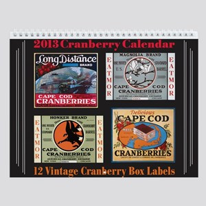 Vintage Cranberry Label Wall Calendar