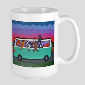 Go Greyhound Large Mug