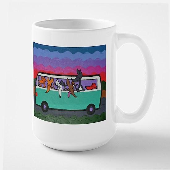 Go Greyhound Large Mug