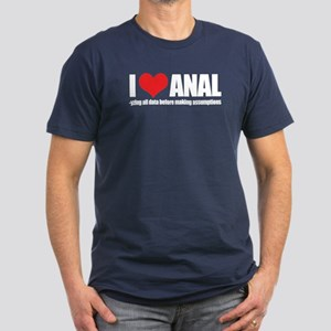 I Love Anal-yzing Men's Fitted T-Shirt (dark)