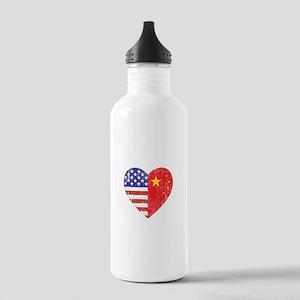 Family Heart Stainless Water Bottle 1.0L
