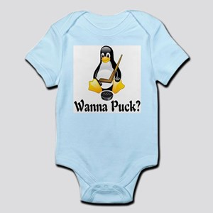 Wanna Puck? Infant Bodysuit