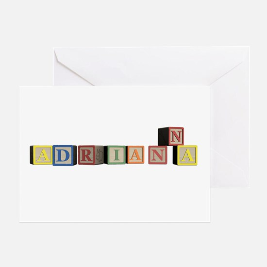Adrianna Alphabet Block Greeting Card