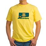 ILY Connecticut Yellow T-Shirt