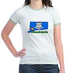 ILY Connecticut Jr. Ringer T-Shirt