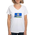 ILY Connecticut Women's V-Neck T-Shirt