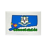 ILY Connecticut Rectangle Magnet (100 pack)