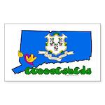 ILY Connecticut Sticker (Rectangle)
