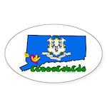 ILY Connecticut Sticker (Oval)