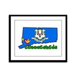 ILY Connecticut Framed Panel Print