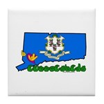 ILY Connecticut Tile Coaster